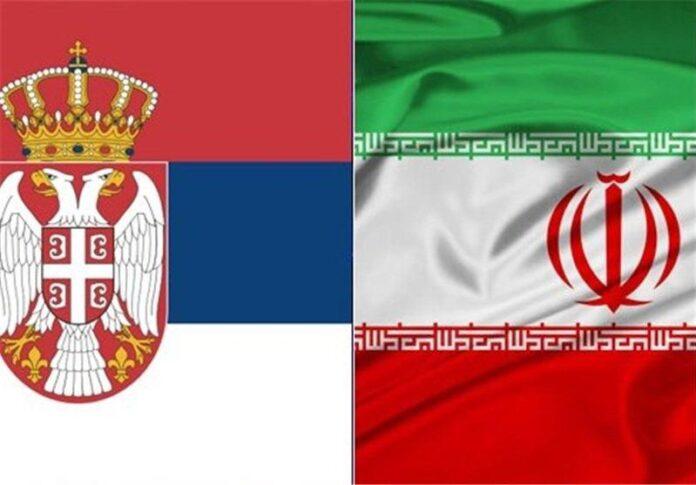 Iran Serbia flags