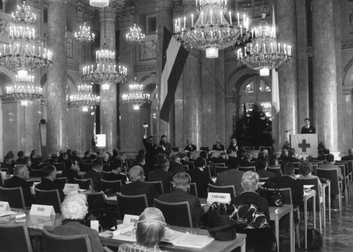 XXth International Conference of the Red Cross in Vienna at the Hofburg Palace, October 2 to 9, 1965; Festival Hall in the Hofburg Palace