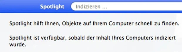 OS X - Spotlight-Bug beheben