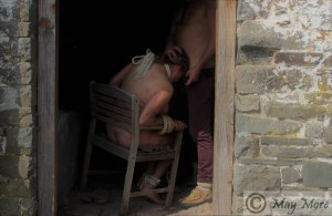 forced in a doorway