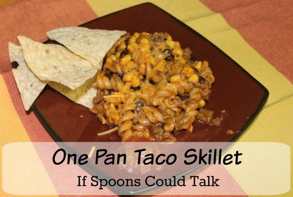 This delicious dish is made in one pot and could not be any simpler. All the flavors of Taco Night rolled into an easy pasta meal that will leave everyone satisfied.