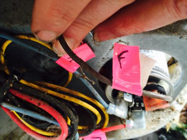 Ac Power Switch Wiring Replacing Emerson 3 Wire Condenser Fan Motor With Rescue 5
