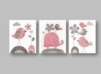 Baby Gear Galore: Pink and gray Nursery wall art nursery ...