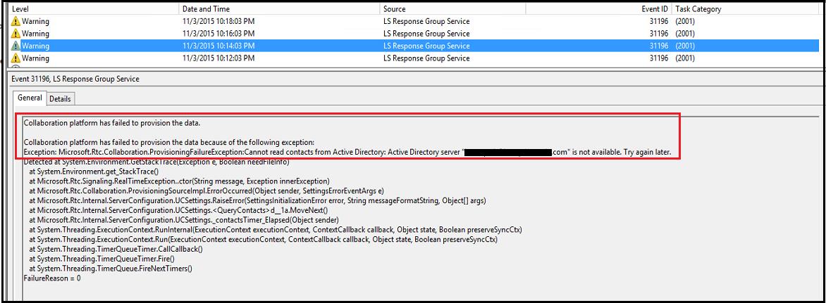 Skype (Lync) Call response group failed. – UC Now