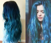sea and sky blue hair color 2017
