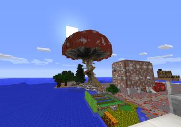 A giant mushroom house I built on SMP via /r/Minecraft Pacosite s Blog