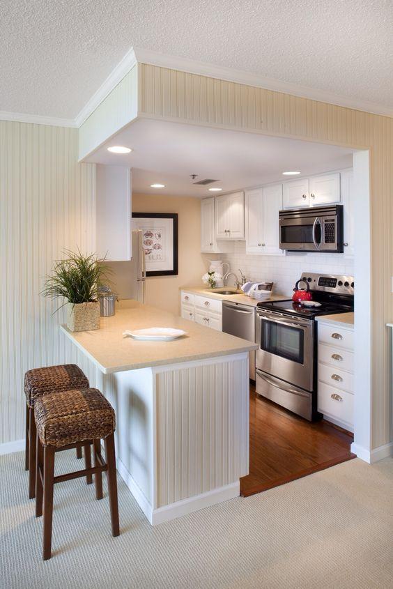 Inspirasi Deco  Idea kabinet dapur untuk ruang kecil