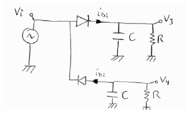 Circuit with Two Diodes
