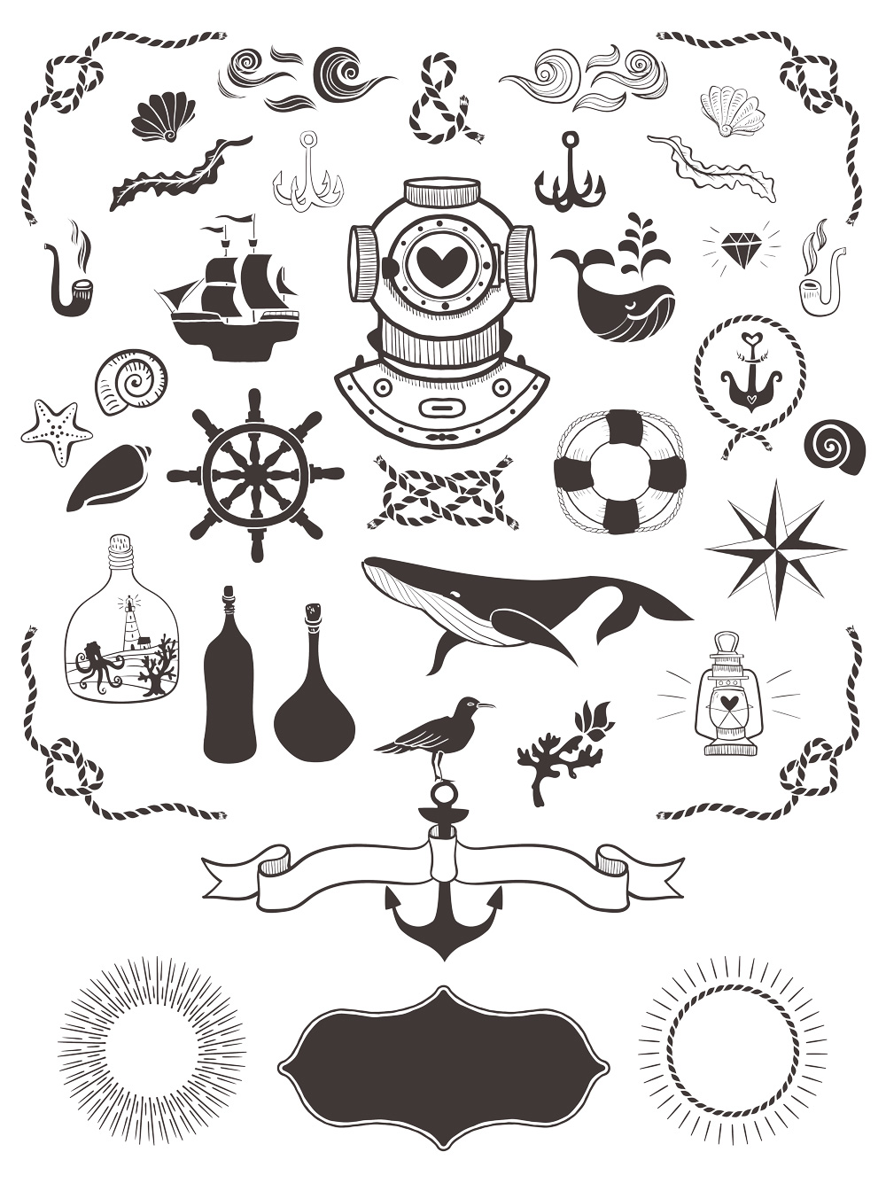 40+ Free Nautical Vector Elements