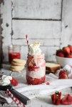 Boozy Strawberry Shortcake Float