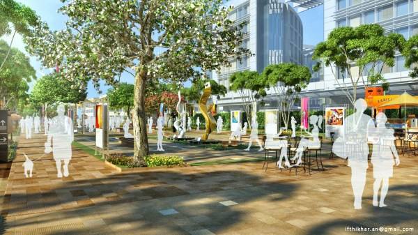 Modern Landscape Design. Architectural Space. 3d Vray Exterior 2013 Ifthikhar