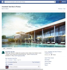 One of the feature in Autodesk FB page.