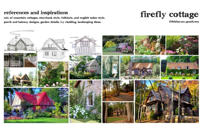 References / moodboard for firefly cottage