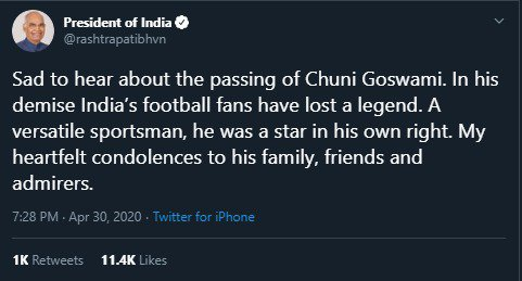 Condolences pour in as legendary Chuni Goswami passes away img 20200430 wa00234140345898860782012