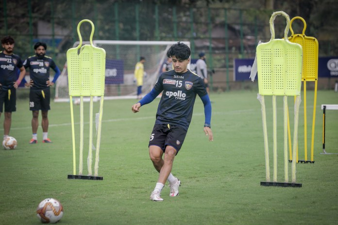 Csaba Laszlo- If you can't score goals, you can't win the games Chennaiyin FC midfielder and vice captain Anirudh Thapa in training