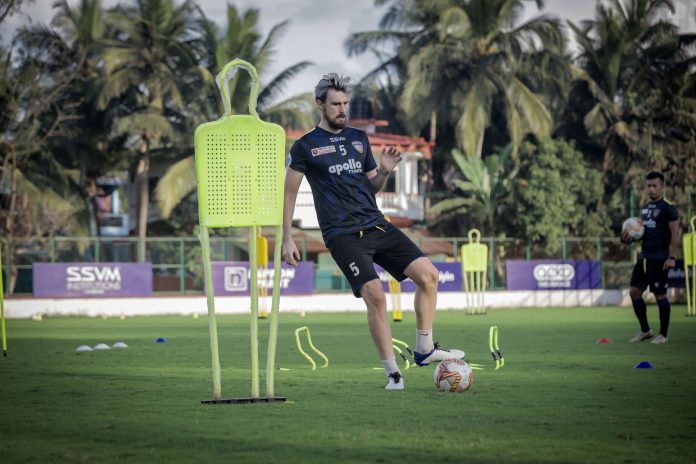 Csaba Laszlo- We have reorganized our shape and we are better organized now Enes Sipovic in training for Chennaiyin FC 1 scaled