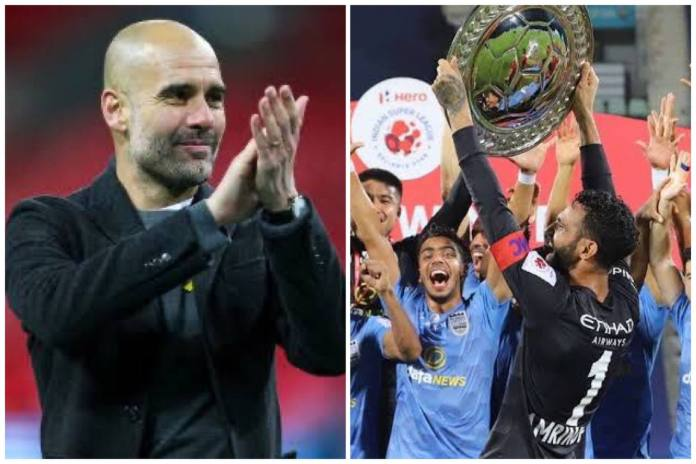 Pep Guardiola congratulates and sends wishes to Mumbai City FC pep 1