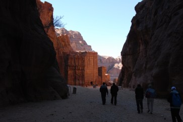 entering the necropolis, which what ancient Petra was