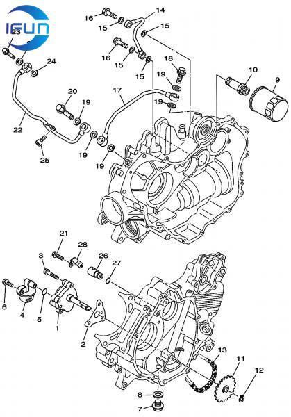 HISUN HS500 ATV OIL PUMP,HISUN ATV PARTS,HISUN UTV PARTS