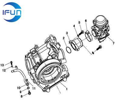 HISUN HS500 UTV INLET PIPE Carburetor,HISUN UTV PARTS