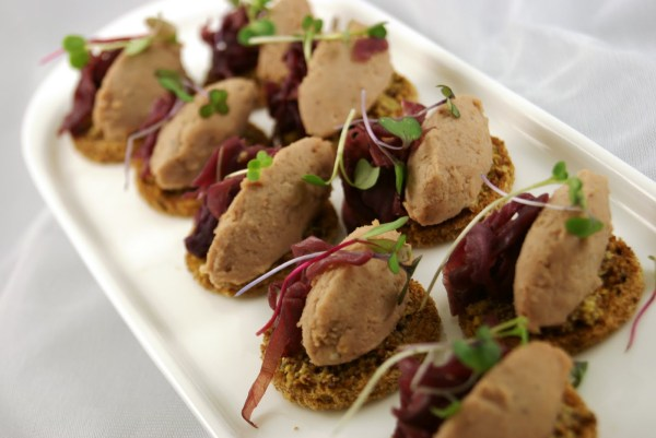 Duck Confit Rillette with Braised Red Cabbage and Guiness