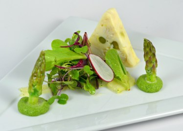 Crab Terrine with Asparagus Salad