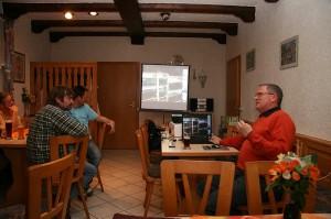 Volker Witzleben beim Vortrag über \'Die 5 besonderen G\'s der Fischzucht\'