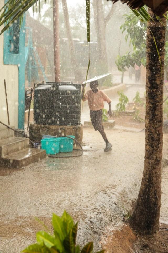 Fotoreportage: Rain at Footprints Orphanage Kenya
