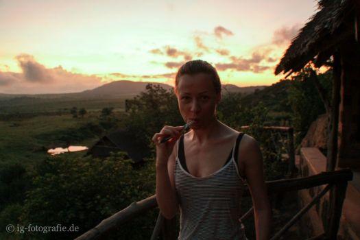 Fotosafari in Kenia: Tierbeobachtung vom Zimmer