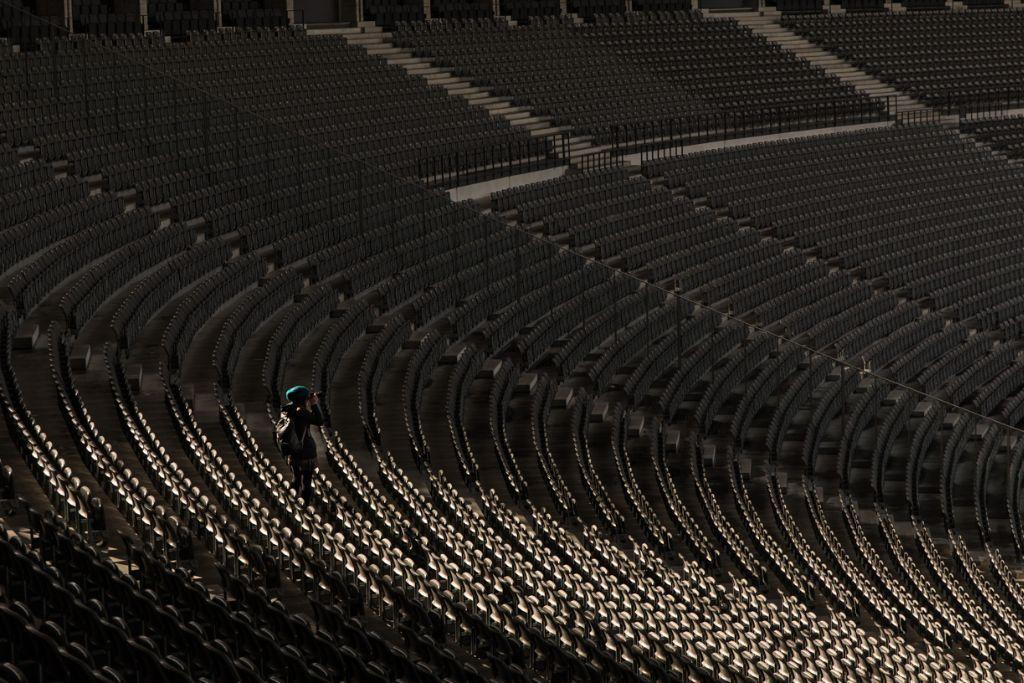 Blogger allein im Olympiastadion