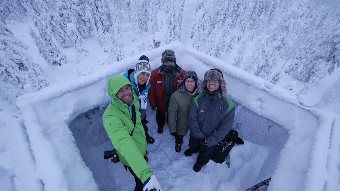 Gruppenfoto-Lappland