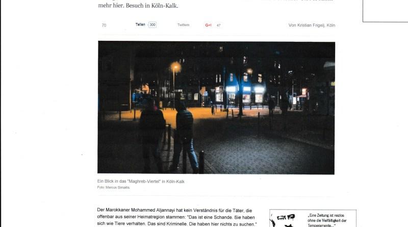 Zeitungsartikel der Welt-online über die Taunusstr.