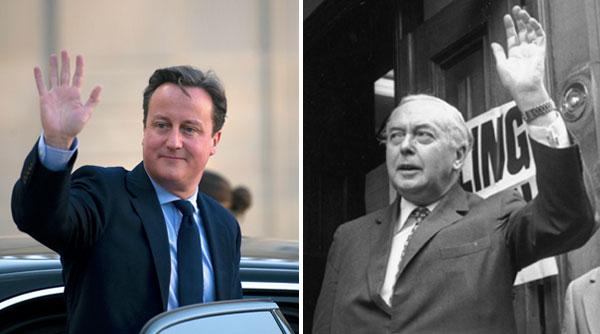 David Cameron and Harold Wilson