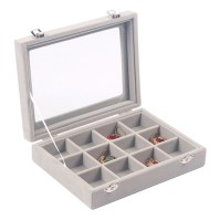 12 Slot Earrings Ring Jewelry Display Tray Organizer