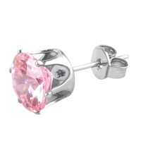 Cool 1 Pcs Women Men Titanium Steel Rhinestone Ear Stud