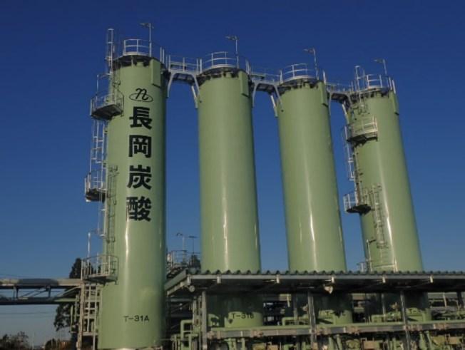 長岡炭酸の液化炭酸ガス製造プラント