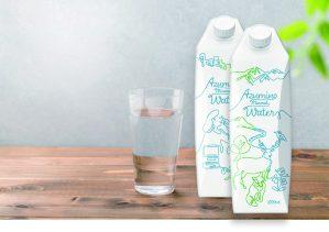 紙容器入りのナチュラルミネラルウォーター「Azumino Mineral Water」