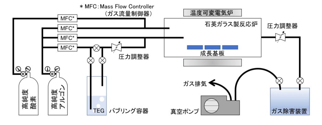 減圧 MOVPE 装置の概略図