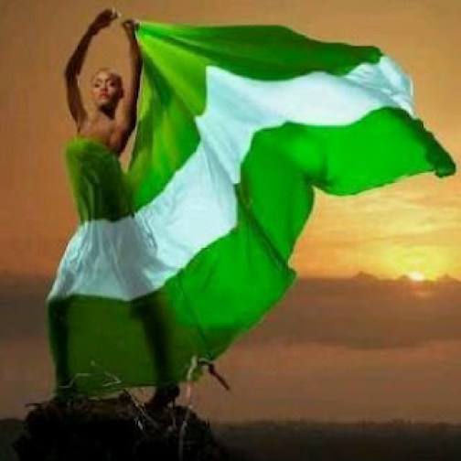 nigerian-flag-woman-temitopes-blog Happy Independence Day!
