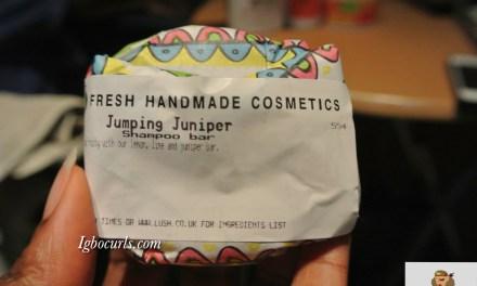 Product Review: LUSH Jumping Juniper & Trichomania Shampoo Bars on Natural Hair