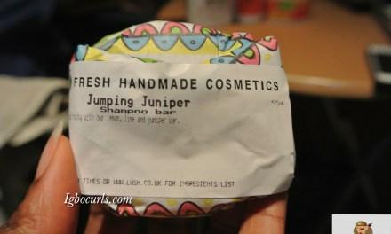 Product Review: LUSH Jumping Juniper & Trichomania Shampoo Bars on Natural Hair