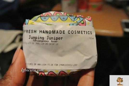 dsc_9116 Product Review: LUSH Jumping Juniper & Trichomania Shampoo Bars on Natural Hair