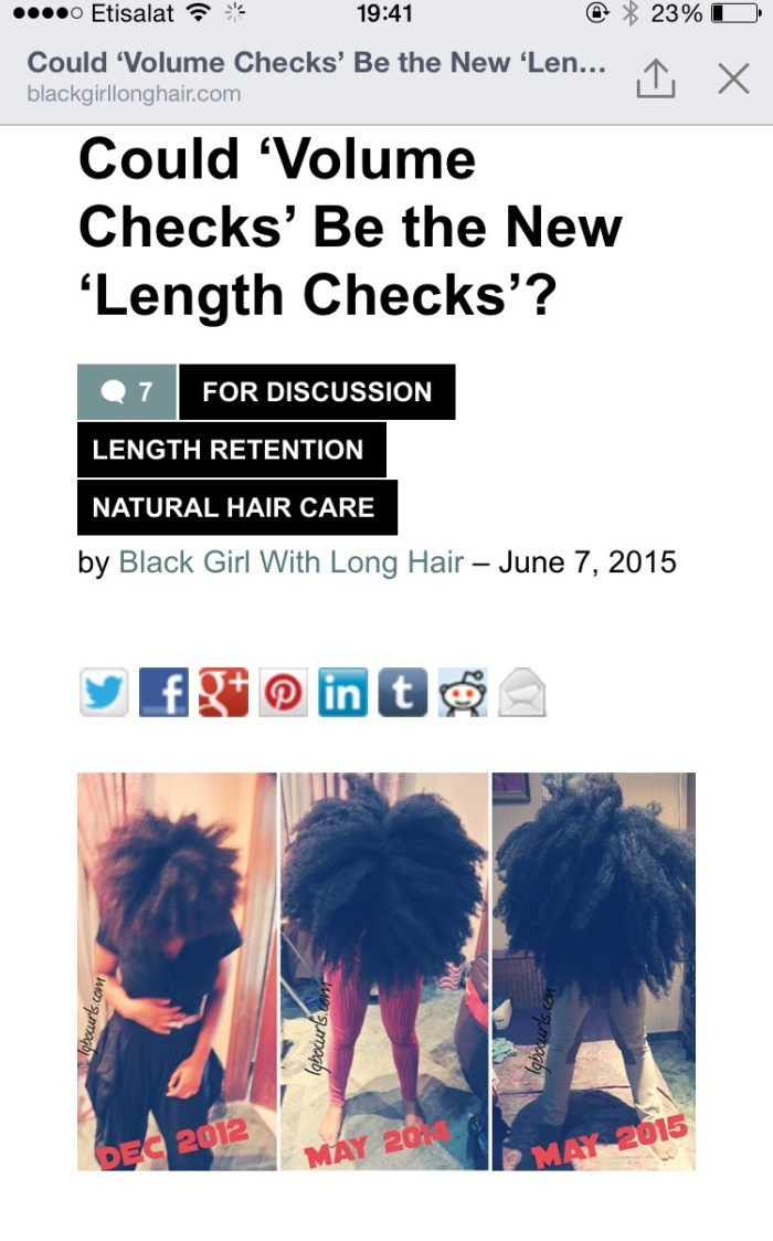 image1 An article on my Volume Checks on Black Girl with Long Hair