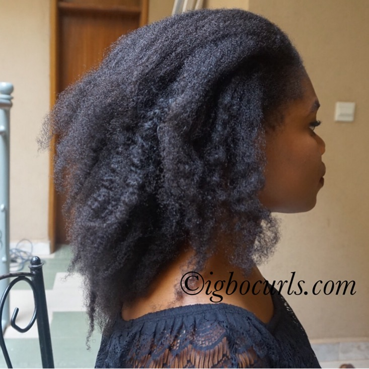 Bun-results How To: 'Temporarily' Retain Stretched Natural hair