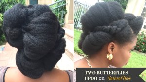 two-butterflies-updo-on-thick-na Two Butterflies Updo on Thick Natural Hair