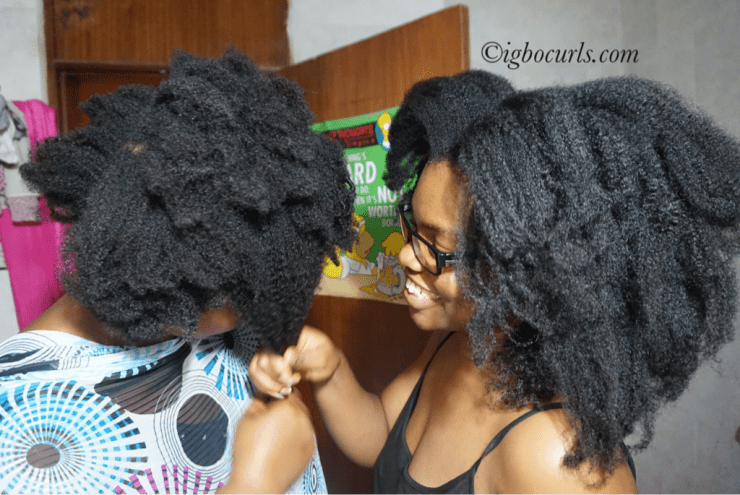 Chinwe Juliet of Igbocurls and her mums natural hair