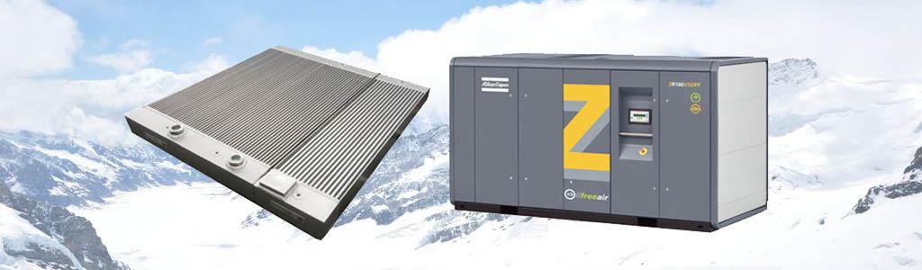 Atlas Copco compressor radiator