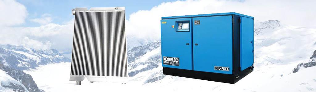kobelco air compressor radiator