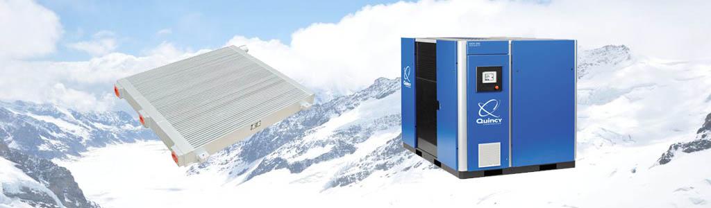 quincy air compressor radiator