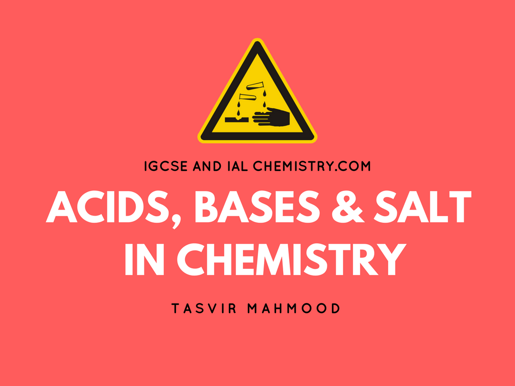 acid, bases and salts in chemistry